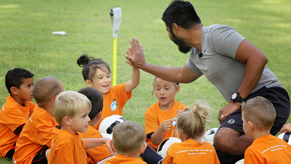Kindergarten Teacher Integrates Soccer with Academics