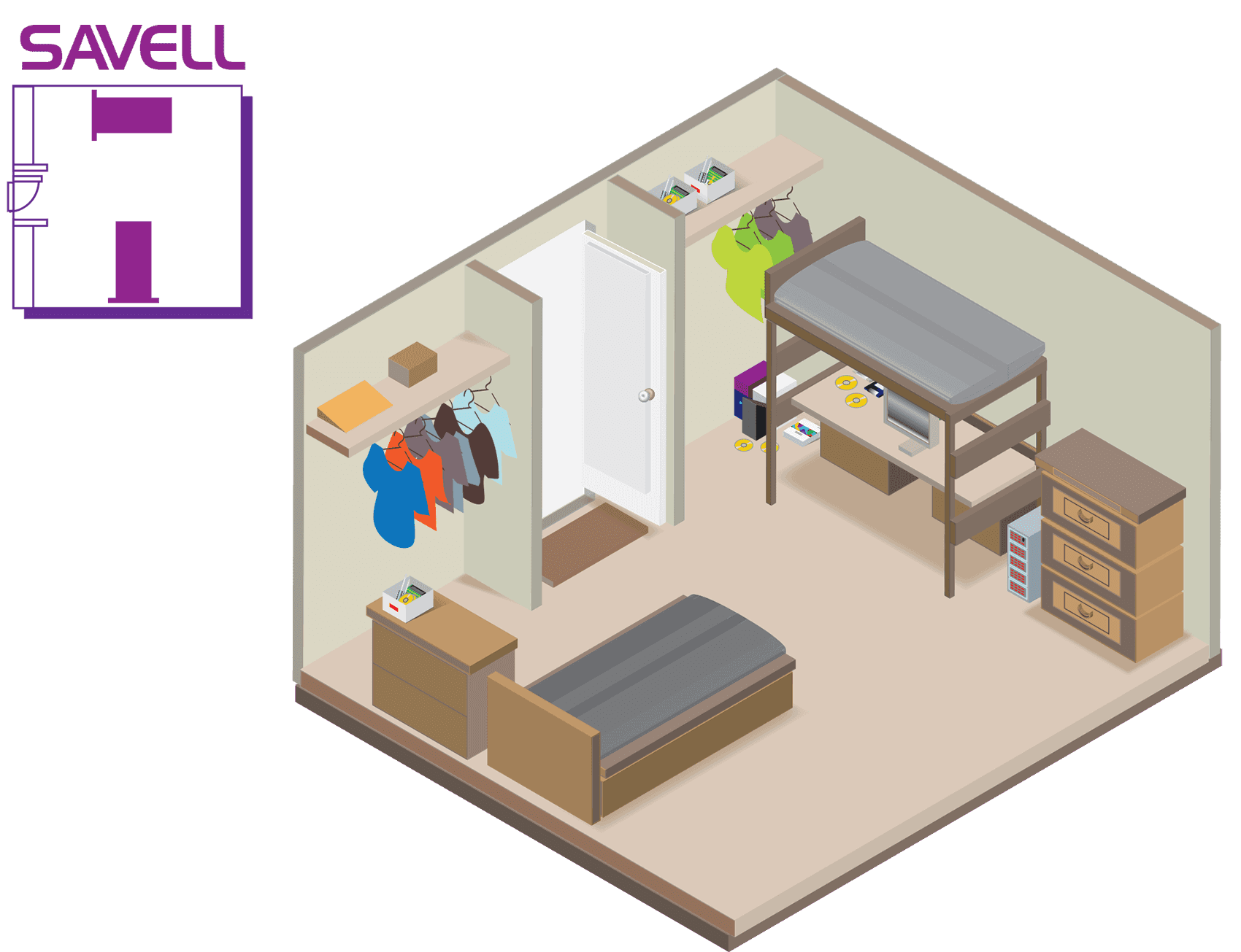 Savell Hall Room Layout