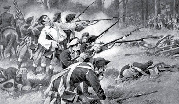 John Glover and Marblehead Militia holding off British