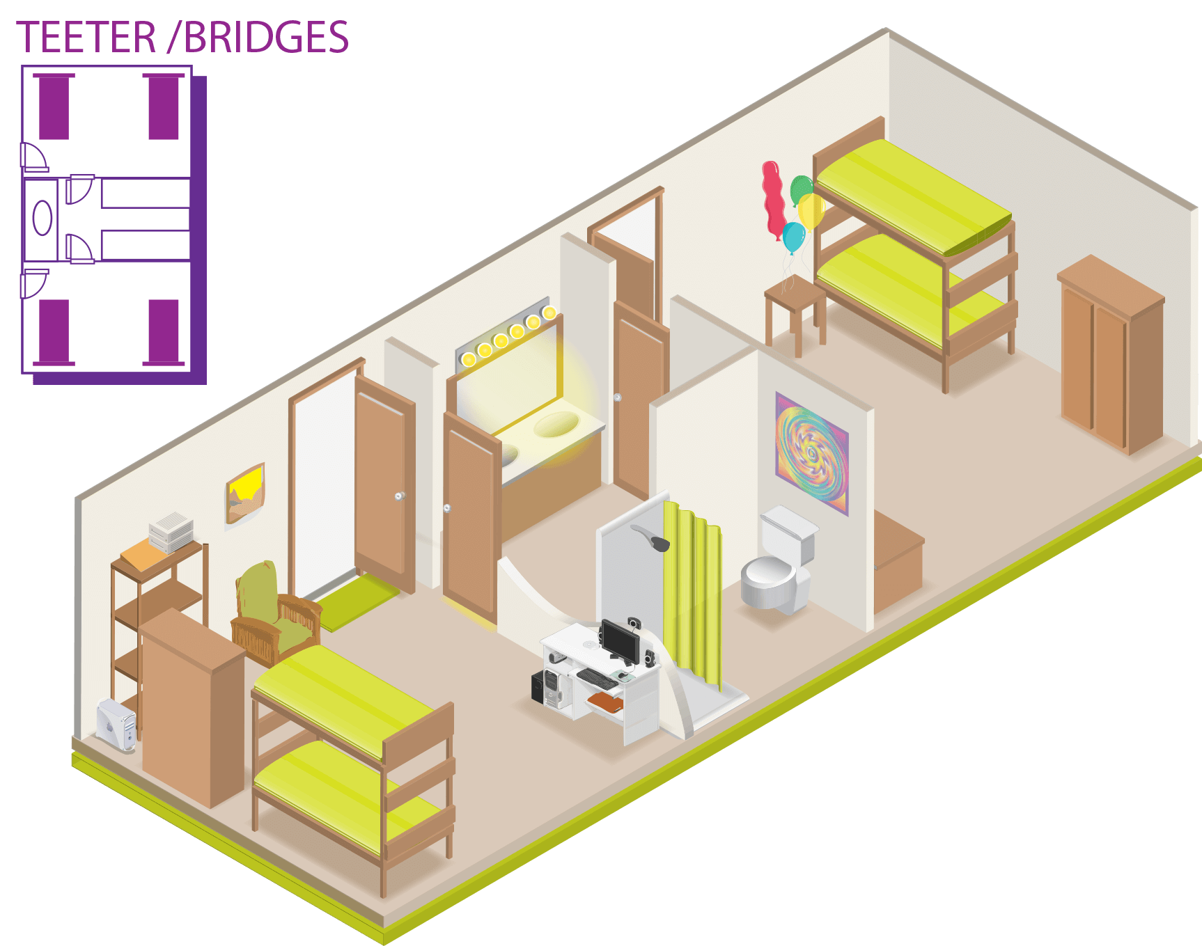 Bridges Dorm Sample Layout