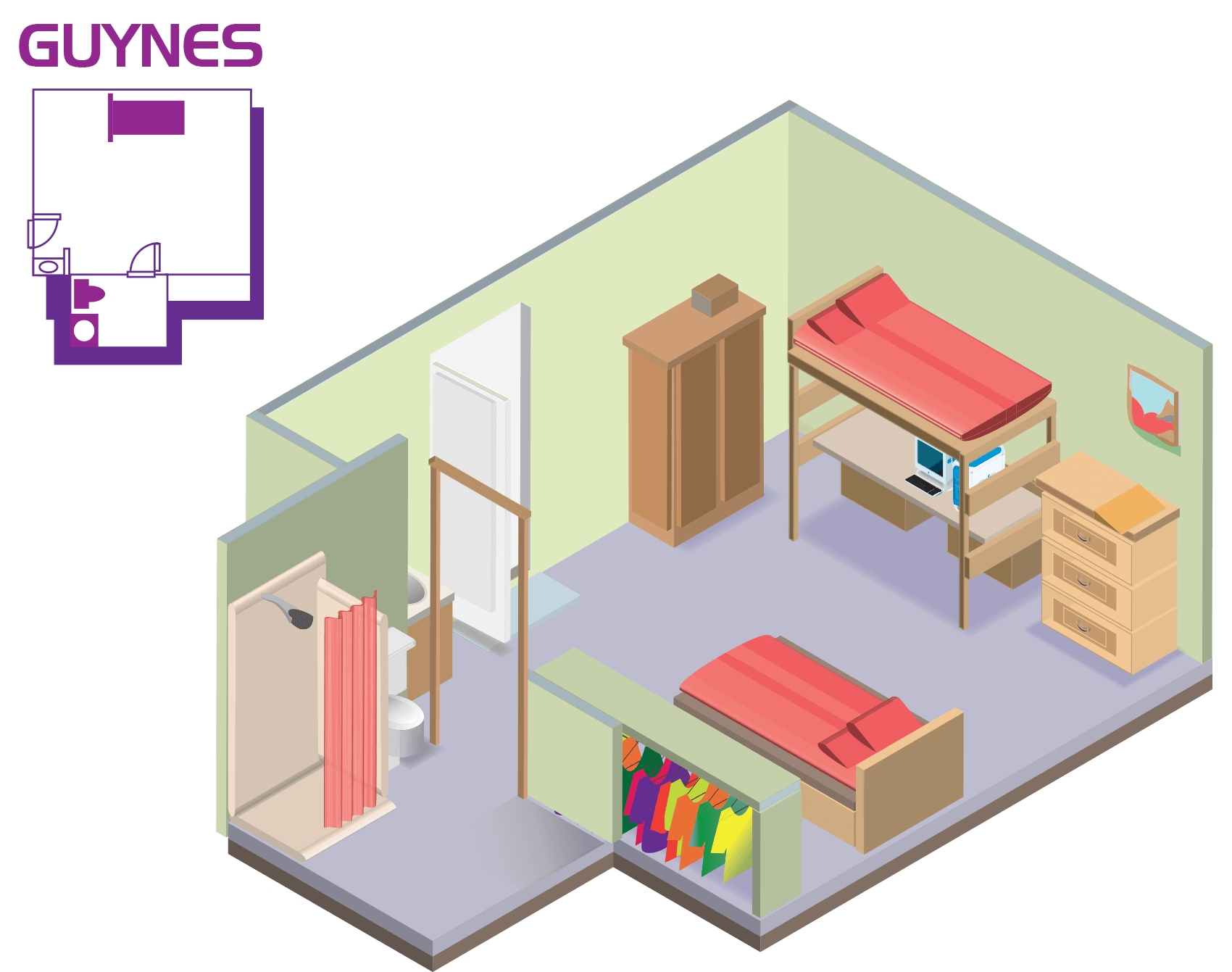 Guynes Hall Room Layout