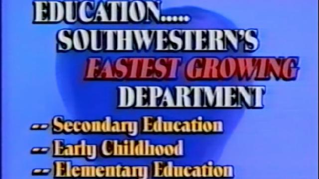From the vault of university archives SAGU presents this promotional video from the 1990s.